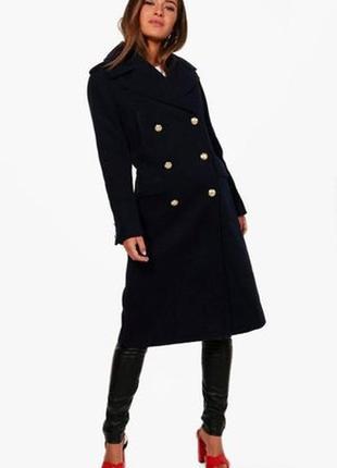 Стильне пальто в стилі мілітарі boohoo