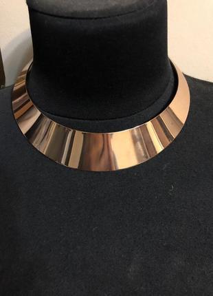 Колье ожерелье позолота бижутерия
