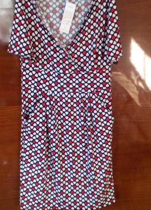 Платье летнее миди с декольте4 фото