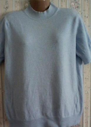 Кашемировый  с шерстью гольф свитер, разм. 46-48