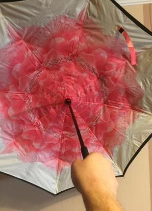 Зонт обратного сложения, up-brella