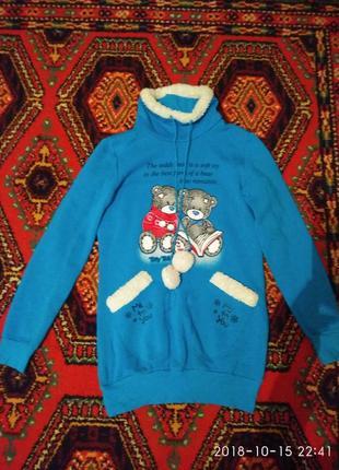 Тёплый удлинённый свитер