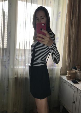 Чёрная юбка, сарафан maje