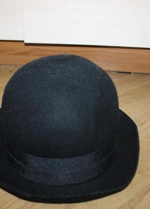 Шляпа чорная котелок h&m
