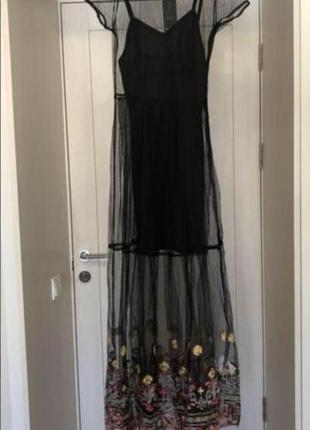 Новое платье - сетка с вышивкой