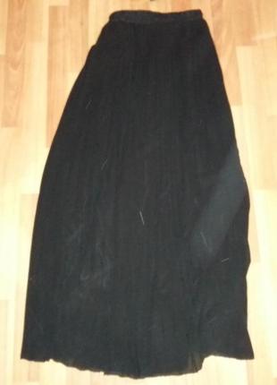 Плиссированная юбка,черная zara оригинал