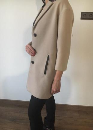 Пальто бежевое,пальто оверсайз,пальто осень