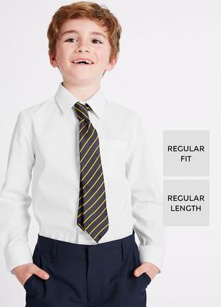 Белая школьная рубашка с длинным рукавом marks&spenser  на 10-14 лет на рост 146-164 см