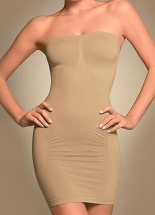 10 м 38 корректирующее утягивающее бесшовное платье без бретелей, комбинация