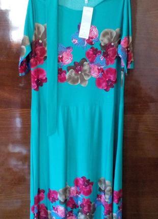 Красивые зеленые платья с орхидеями