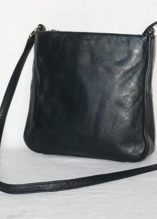 Tula сумка вместительная кожаная сумочка длинная ручка