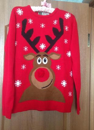 Новогодний рождественский свитер олень рудольф cedarwwod state р.м. хит продаж!