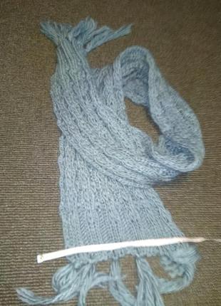 Зимний толстый вязки шарф