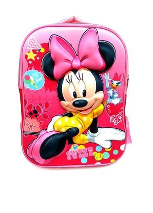 Детский школьный рюкзак минни маус (42х31х15 см) minnie mouse