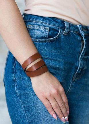 Кожаный браслет, ручная работа, шкіряний браслет, hand made