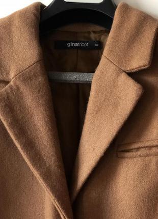 Базовое пальто кэмэл бежевый