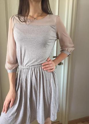 Оригинальное платье миди mango