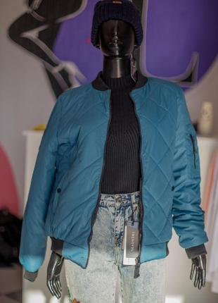 Демисезонная куртка бомбер утепленная от wear me размеры с, м, л,хл