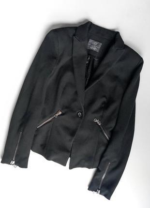 Жакет пиджак классический чёрный zara