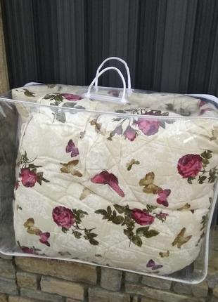 Очень теплое зимние одеяло на овчине. размер полуторный. верх - хлопок4 фото