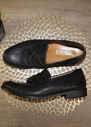 (42/28см) geox! кожа! марокко! стильные фирменные туфли, лоферы прекрасного качества