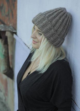 Мягчайшая шапочка с шерстью альпака. есть цвета!