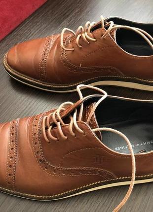 Кожаные мужские туфли tommy hilfiger 40 размер