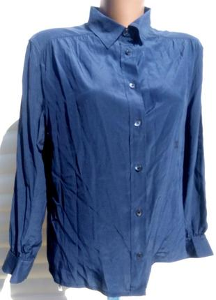 Шелковая блуза премиум класса celine paris 100% шелк оригинал р. 38-40
