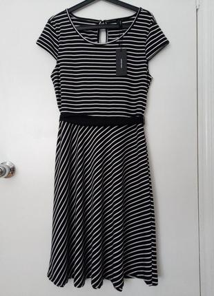 Платье миди в полоску vero moda