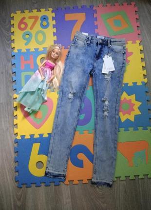 Новые! 16л крутые рваные джинсы d-xel