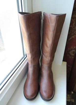 Теплые зимние кожаные сапоги tamaris, р.39-40 (25,8 см)