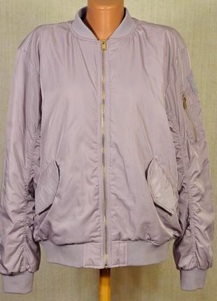 Бомбер,легкая куртка,ветровка,брендовая деми куртка от h&m,рр 40-42