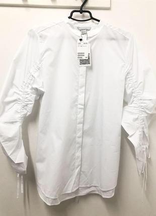 Оригинальная хлопковая рубашка от h&m