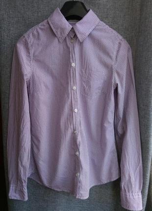 Базовая рубашка в мелкую клетку h&m