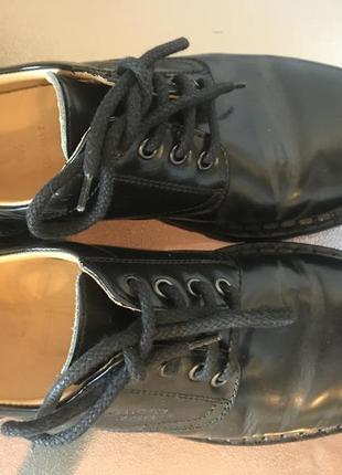Кожаные туфли на шнурках а-ля др.мартинс