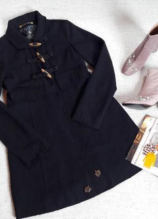 Пальто дафлкот осенне-весеннее шерсть бренд maison scotch