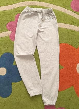 Спортивные брюки с серебристым напылением на р.128 см