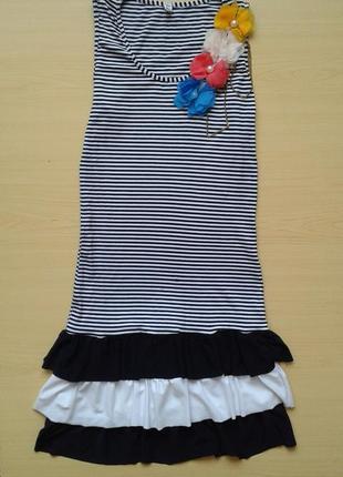 ♤ акция 1 + 1 = 3 ♤ летнее платье-майка с рюшами, сарафан в полоску, xs/s2