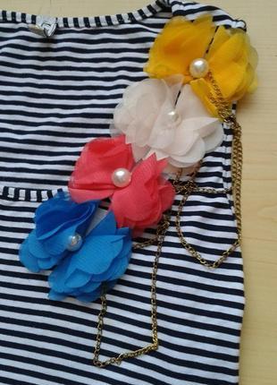 ♤ акция 1 + 1 = 3 ♤ летнее платье-майка с рюшами, сарафан в полоску, xs/s4