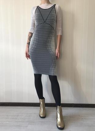 Трикотажное миди платье bcbg