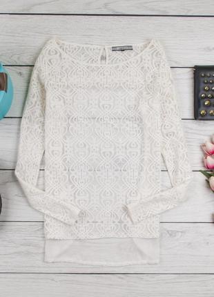 Белая кружевная блуза от next рр 12 наш 46