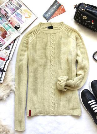 Базовый приталенный свитер с косичкой top secret м