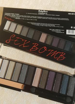 "Тени для век с праймером ""sex bomb"" ruby rose, hb-99122"
