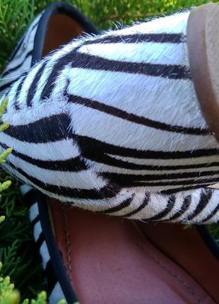 Туфли из натуральной кожы зебры4 фото