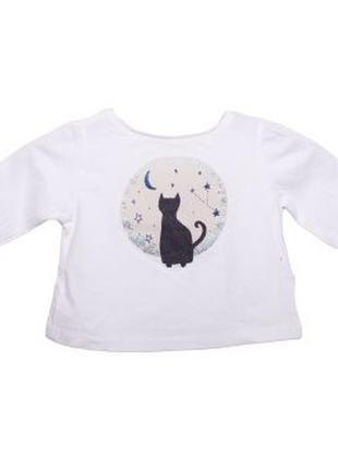 Новая футболка с длинными рукавами для девочки, zara, 5643