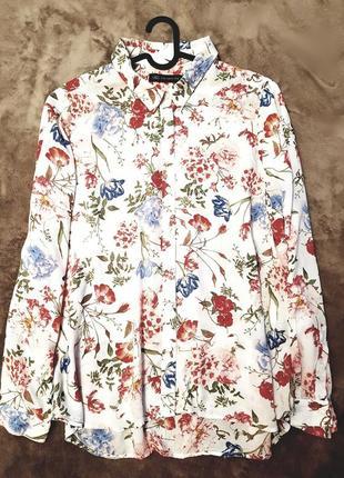 Marks&spencer рубашка цветочный принт xxxxl вискоза