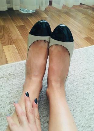 Кожанные туфельки 24,5 см стелька