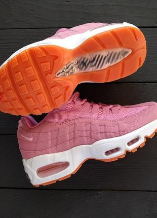 Nike air max 95 розовые женские кроссовки