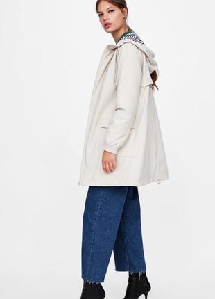 Парка, плащ, дождевик, куртка zara, размер xs, s, m, l