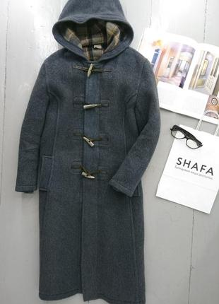 Теплое шерстяное пальто дафл дафлкот